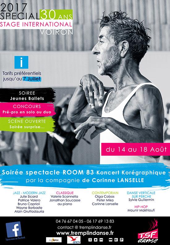 Affiche stage Danse Voiron 2017