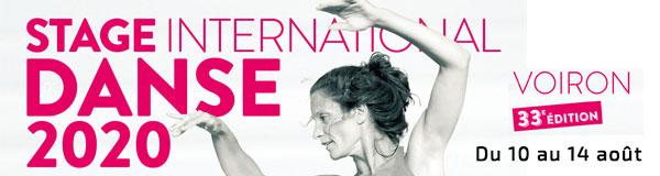 Entete mail Stage international Danse Voiron 2020